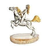 Серебряная статуэтка Всадница