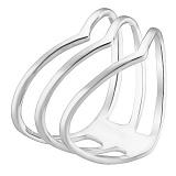 Серебряное кольцо Акула
