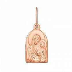 Ладанка из красного золота Образ Богородицы 000106120