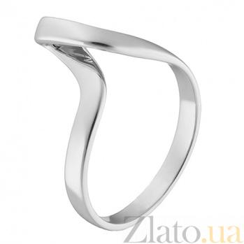 Золотое кольцо Атрис в белом цвете 000032742