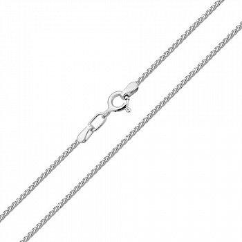 Срібний ланцюжок у плетінні косички 000117775