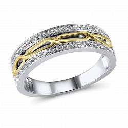 Обручальное кольцо Филомена из белого золота с бриллиантами