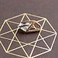Золотой кулон Идеал с кристаллом Swarovski EDM--П4121SW