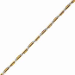 Цепь Baraka Салерно из желтого и белого золота с бриллиантом 000033387