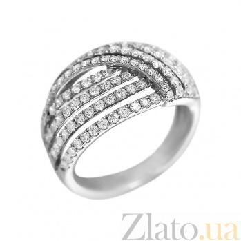 Кольцо из белого золота Филиппа с бриллиантами 000080995