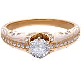 Помолвочное кольцо Рожденные для счастья с бриллиантами