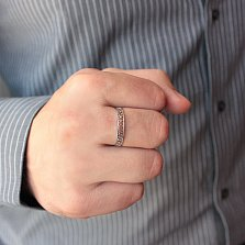 Серебряное кольцо Спаси и Сохрани с вырезными буквами