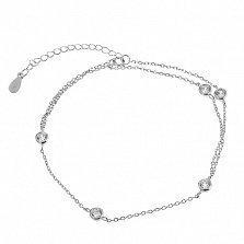 Серебряный браслет с цирконием Макенна