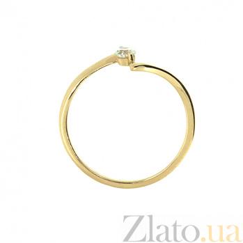 Кольцо из красного золота с бриллиантом Ларина 000021470