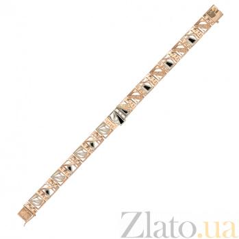 Мужской золотой браслет Шантье с черным агатом 000057259