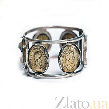 Серебряный браслет с монетами Профиль 628