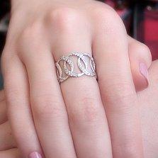 Серебряное кольцо Олимпия с фианитами