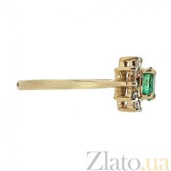 Золотое кольцо Малинка в красном цвете с изумрудом и бриллиантами ZMX--RE-4235_K