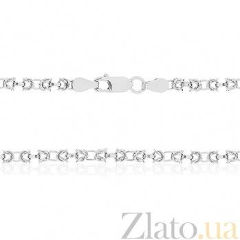 Серебряная цепь Жоржетта, 50 см 000027465
