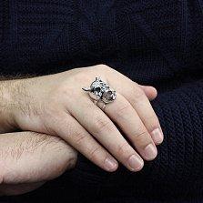 Серебряное кольцо Усмешка Дьявола с чернением