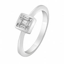 Кольцо в белом золоте Чудо с бриллиантами