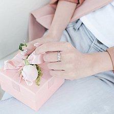 Золотое кольцо Белиссимо в белом цвете с бриллиантами, 0,27ct