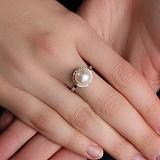Кольцо в белом золоте с жемчугом Наяда