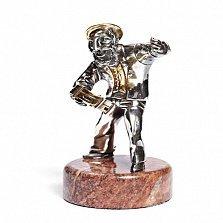 Серебряная статуэтка Игра на бубне