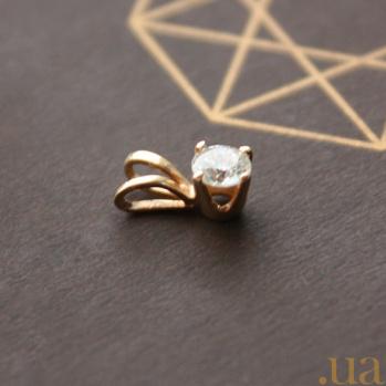 Кулон из красного золота Княжна с бриллиантом 000031120