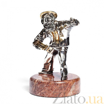 Серебряная статуэтка Игра на бубне 916