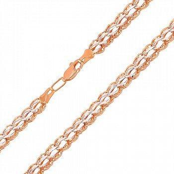 Золотая цепочка в комбинированном цвете, 6мм 000106166