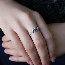 Кольцо из белого золота Era с фианитами