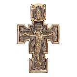 Золотой крест с чернением Святое Благословение