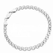 Серебряный браслет Калькутта с родием, 3,5 мм