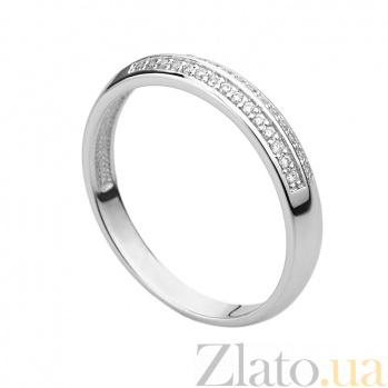 Кольцо из белого золота с бриллиантами Тоскана 000030496