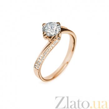 Кольцо в красном золоте Доротея с бриллиантами 000079252