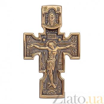 Золотой крест с чернением Святое Благословение ONX--п01837