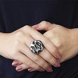 Серебряное кольцо Луна с чернением