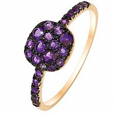 Золотое кольцо Сирень в желтом золоте