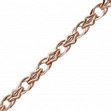 Золотая цепь фантазийного плетения Франческа в комбинированном цвете
