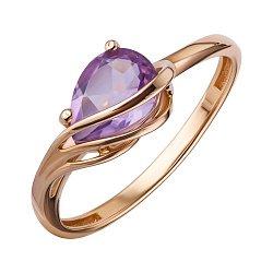 Кольцо из красного золота с аметистом 000147818