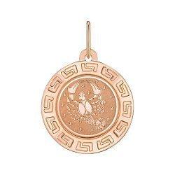 Подвеска из красного золота Знак Зодиака Рак 000147757
