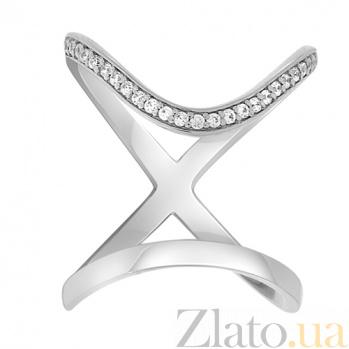 Золотое кольцо на фалангу с фианитами Киприотис 000032761