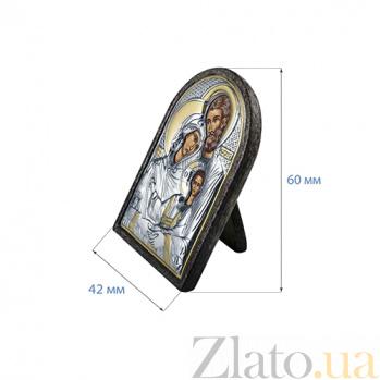 Серебряная икона с позолотой Святая семья AQA--MA/E1105-2OX