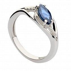 Золотое кольцо с сапфиром и бриллиантами Джина 000030356