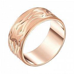 Обручальное кольцо из красного золота с алмазной гранью 000000289