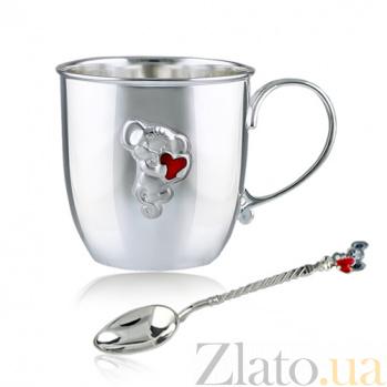 Серебряный набор посуды Маленькая мышка 2.8.0098_