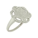 Серебряное кольцо с фианитами Адриана