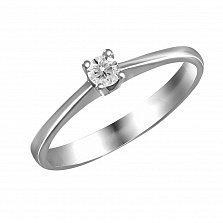 Кольцо из белого золота Аура любви с бриллиантом