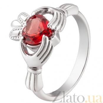 Серебряное обручальное кольцо Кладдахское кольцо KLD05