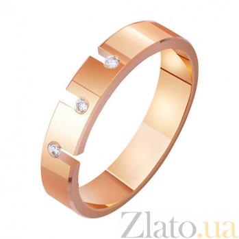 Золотое обручальное кольцо Поединок страсти с фианитами TRF--4121322