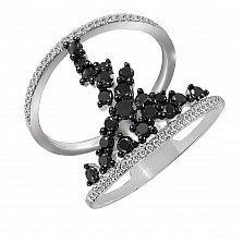 Кольцо из белого золота Гортензия с бриллиантами