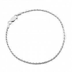 Серебряный браслет с родированием, 1,5 мм 000027564