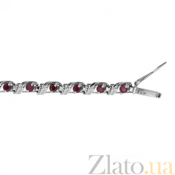 Серебряный браслет с рубинами Stream ZMX--BR-31675-Ag_K