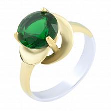 Кольцо из серебра и бронзы Эмма с изумрудом